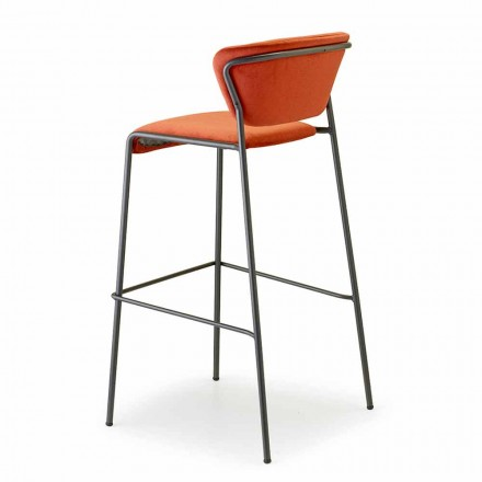 Stackable Kitchen Stool in Velvet and Steel Made in Italy - Scab Design Lisa