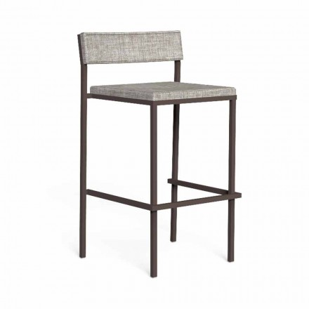 Luxury Outdoor Bar Stool in Steel and Fabric - Casilda by Talenti