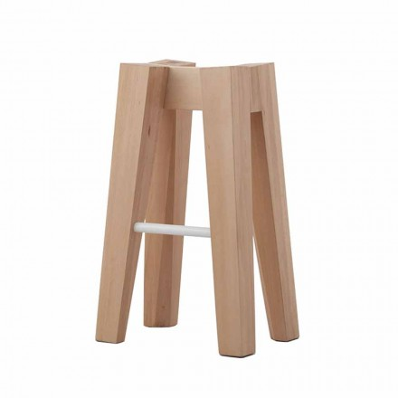 High or Low Design Solid Beech Wood Kitchen Stool - Cirico