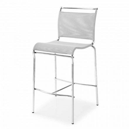 Metal or Fabric Design Kitchen or Bar Stool Made in Italy - Air