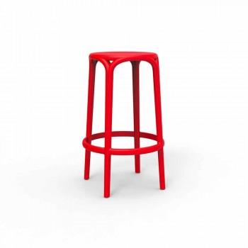 Brooklyn by Vondom outdoor stool in polypropylene, H 76 cm