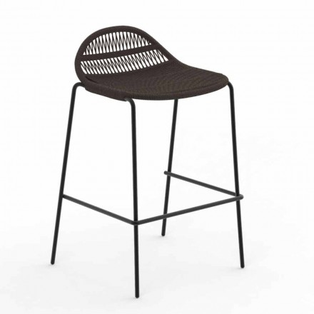 Stackable Outdoor Stool in Aluminum and Fabric - Panama by Talenti