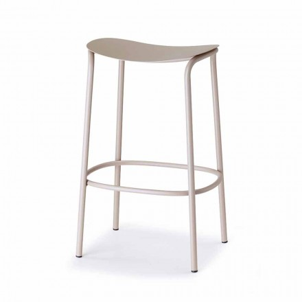 Outdoor Stool in Painted Steel Made in Italy - Scab Design Trick