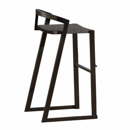 Outdoor Design Stool in High Quality Aluminum, 3 pieces - Filomena