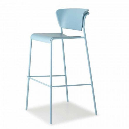 Modern Stackable Outdoor Stool Made in Italy, 2 Pieces - Scab Design Lisa