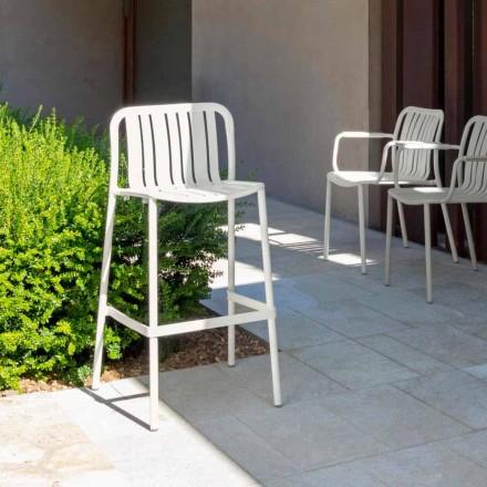 Talenti Trocadero modern stackable outdoor stool, in aluminum