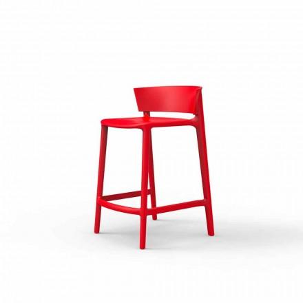 Garden stool Africa by Vondm, H 85 in polypropylene and fiber glass, 4 pieces