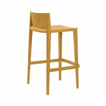Outdoor stool Spritz by Vondom, in polypropylene with fiber glass, 4 pieces