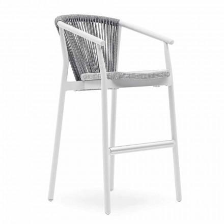 Stackable Garden Stool Aluminum and Technical Fabric - Smart by Varaschin