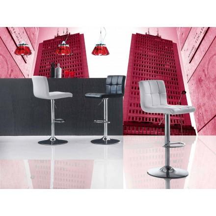 Modern Design Lift-up Stool, Eco-Leather Seat - Delfina