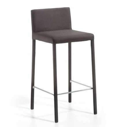 Modern design stool with back H. 86 cm Alwyn, made in Italy