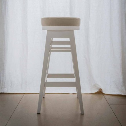 Design stool in lacquered beech wood H 78 cm, Harvey