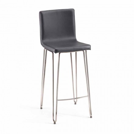 Modern design stool with high back Calo, H. 97 cm, made in Italy