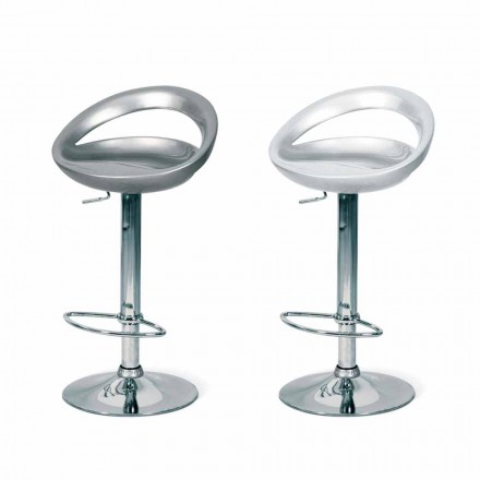 Modern design stool Pollina, with chrome legs