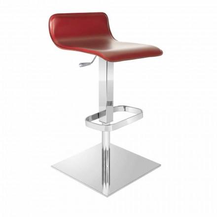 Design stool made with adjustable sitting and chrome basis, Inigo