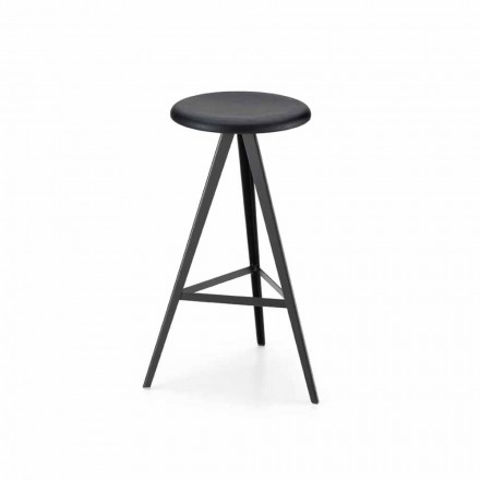Luxury Stool in Metal and Solid Ash Made in Italy, 2 Pieces - Ulm