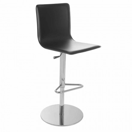 Revolving stool with back, modern design, Gord with H. 113cm