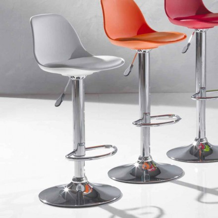 Modern Design Stool in Polypropylene and Liftable - Rosa