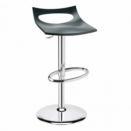 Stool in Technopolymer and Steel Made in Italy - Scab Design Diavoletto