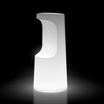 Luminous Outdoor Stool in Polyethylene with LED Light Made in Italy - Forlina