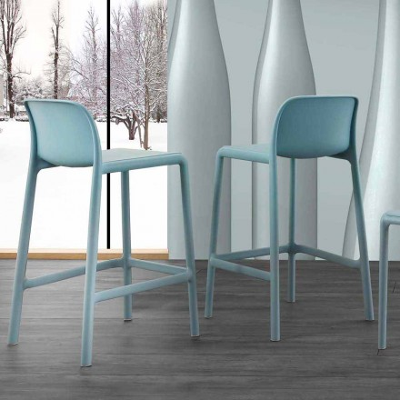 Modern design stool in resin with fiberglass, made in Italy Olbia