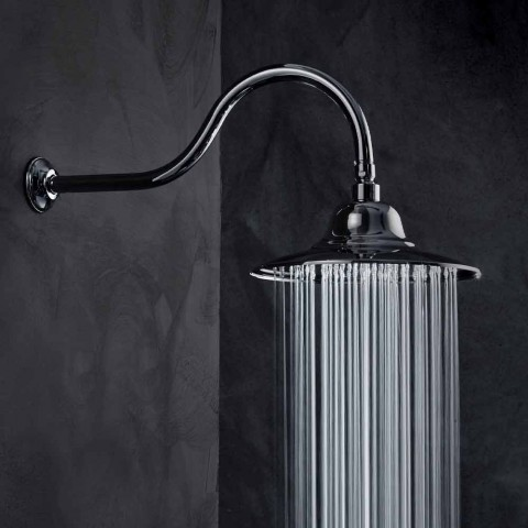 Classic Steel Shower Head with Brass Shower Arm Made in Italy - Jeko
