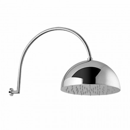 Steel Bell Shower Head with Arched Arm Made in Italy - Auro