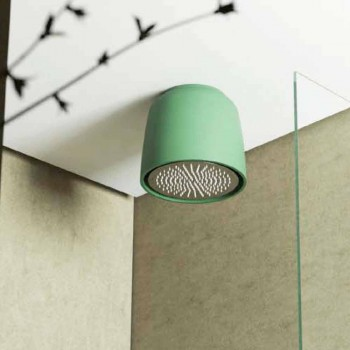 Ceiling-mounted round shower head in Luxolid made Italy, Ruda