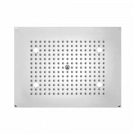 Rectangular shower head Dream Bossini with LED lights, modern design