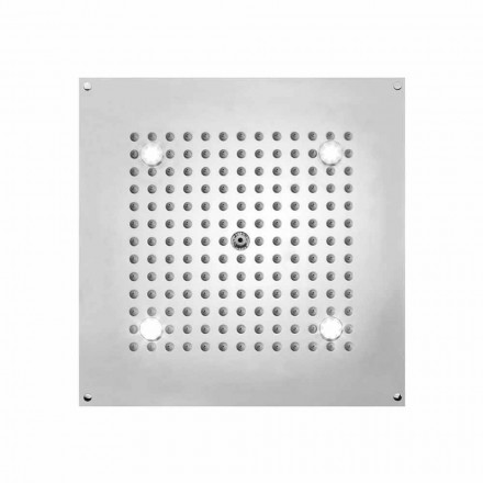 Square shower head Dream by Bossini with LED lights, modern design