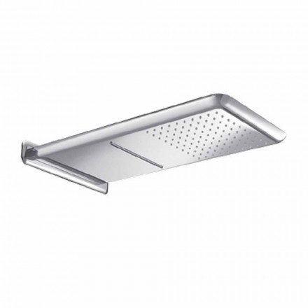 Wall Shower Head in Anti-limescale Steel Made in Italy - Cardellino