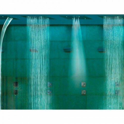 Ceiling shower head with two jets and chromotherapy Dream