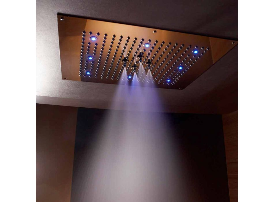 Ceiling shower head with chromotherapy and two jets Dream Neb