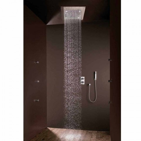 Shower head with rain jet modern design and LED lights