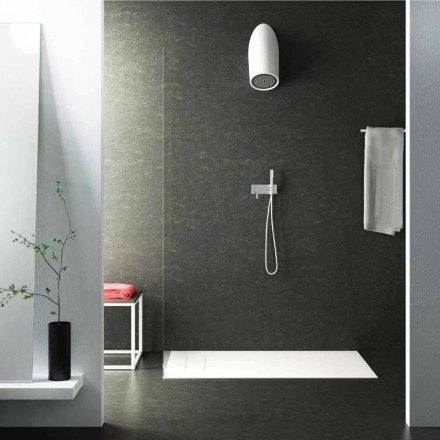 Modern wall shower head in Luxolid made 100 % in Italy, Rubano