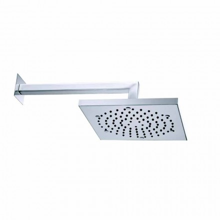 Square shower head Cube by Bossini, with shower arm
