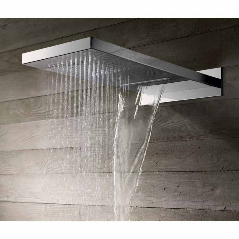 Rectangular Stainless Steel Wall Shower Head Made in Italy - Anito