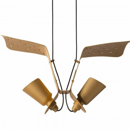 Suspension with two design lamps of metal Tractor – Toscot