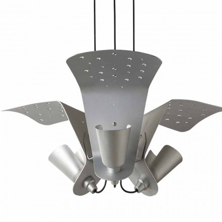 Suspension with three design lamps of metal Tractor – Toscot
