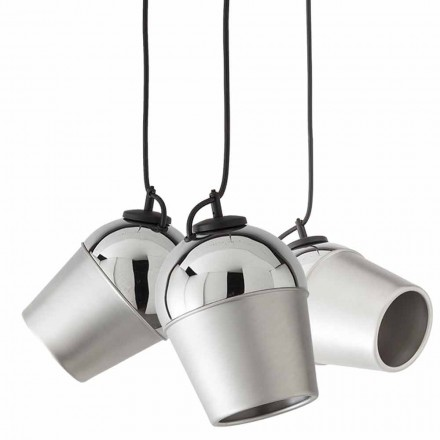 Suspension with three metal lamps Magnet – Toscot