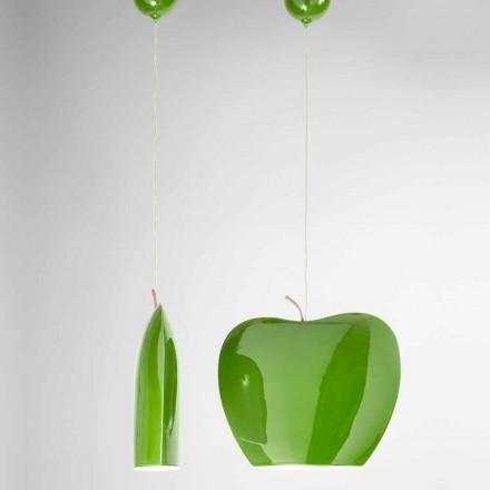 Suspension in Ceramics of Apple Shaped Design - Fruits Aldo Bernardi