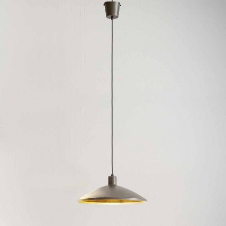 Modern Suspension in Antique Steel Diameter 475 mm - Materia Aldo Bernardi
