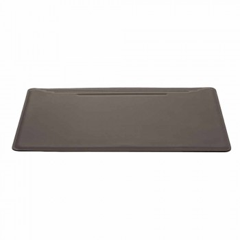 Maxi Desk Pad in Regenerated Leather with Seams Pen Stop Made in Italy - Ebe