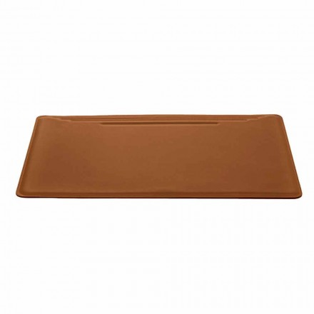 Made in Italy Desk Pad in Regenerated Leather with Pen Stop - Ebe Stitching