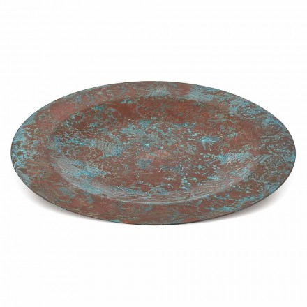 Hand Tinned Green or Brown Copper Placemat 31 cm 6 Pieces - Rocho