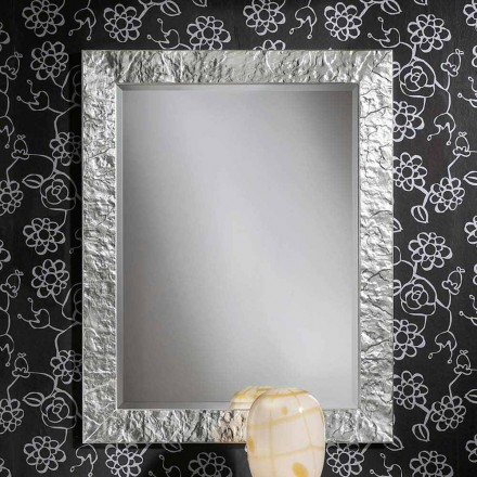 Gold ayous wood handmade wall mirror, produced in Italy, Antonio