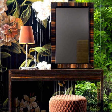 Wall-mounted / floor mirror in ebony wood Grilli Zarafa made in Italy