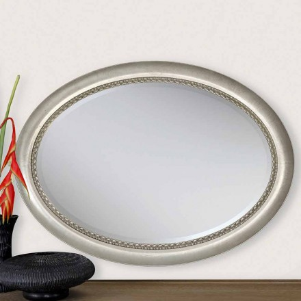 Modern design wooden wall mirror, produced  in Italy, Edoardo