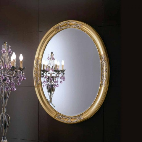 Baroque mirror carved solid linden wood hand carved Elegance