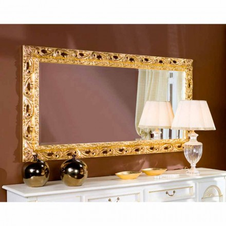 Classic fir wood mirror, Ashley hand bevelled mirror